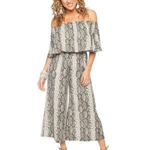 Buddy Love Off the Shoulder Cropped Pantsuit